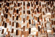 Cork chandelier